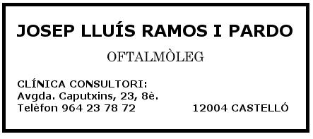 Oftalmòleg Josep Lluís Ramos i Pardo