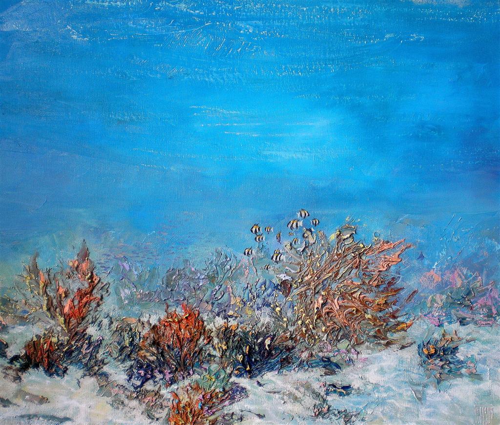 Alexander Belozor Underwater Painting Of Alexander Belozor