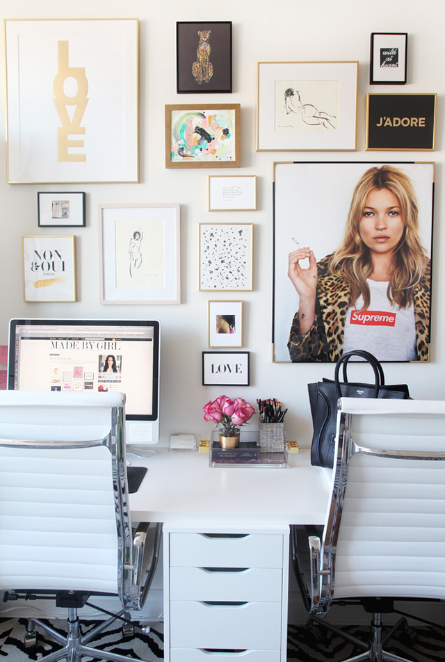 My office gallery wall tips made by girl for Chic office ideas