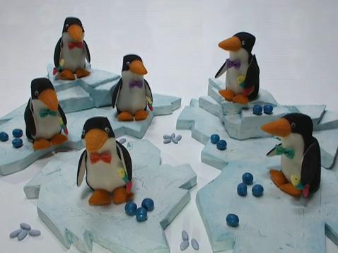 Pinguins de espuma passo a passo