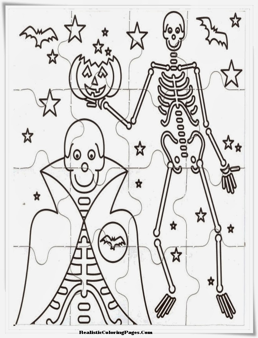 realistic halloween coloring pages - photo#29