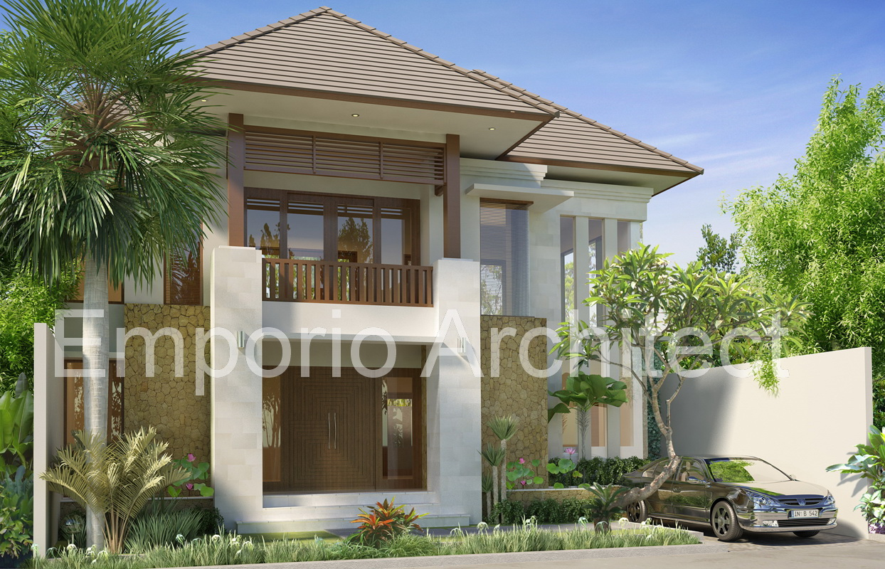 Design rumah bali for 10 meter frontage home designs