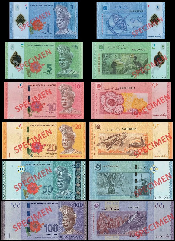 Malaysia New 4th series banknotes