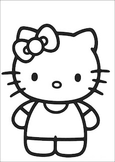 Planse de colorat: Hello Kitty
