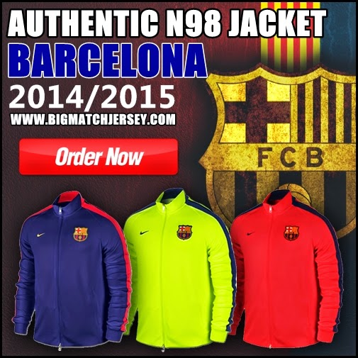 Jaket Training Barcelona Authentic N98 14/15