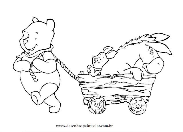 Desenho da Turma do Ursinho Pooh para colorir