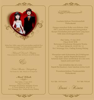 Desain Undangan Pernikahan Gratis