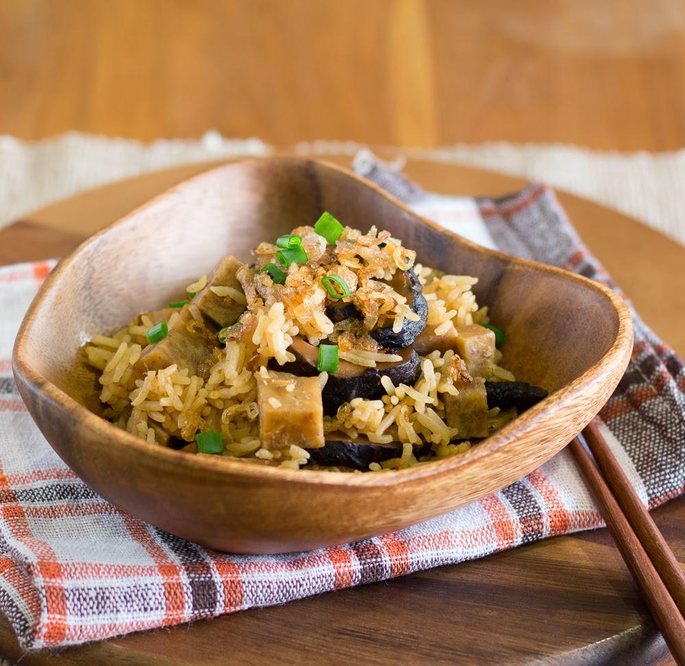 Yam Rice (Taro Rice) | The Yummy Journey