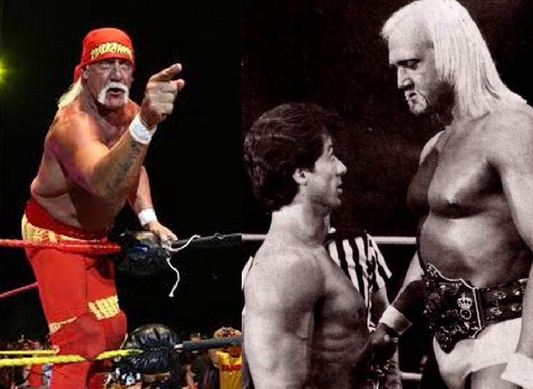 Hulk Hogan fotos en la película rocky junto al stalone, luchador holliwood hogan en peliculas