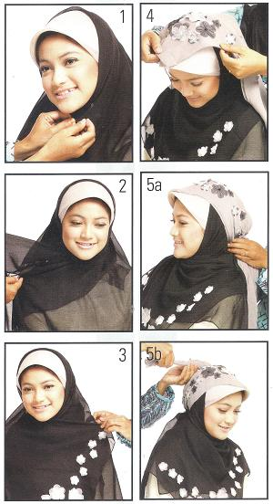 Cara Simpel Memakai Jilbab, cara memakai jilbab, cara mudah memakai jilbab, cara memakai jilbab