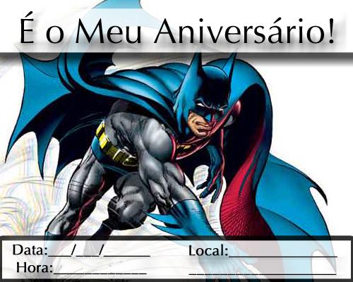 Convite De Anivers  Rio Do Batman Para Imprimir