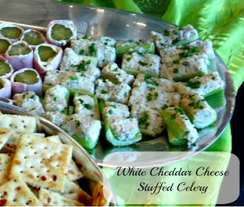 White Cheddar Cheese Stuffed Celery