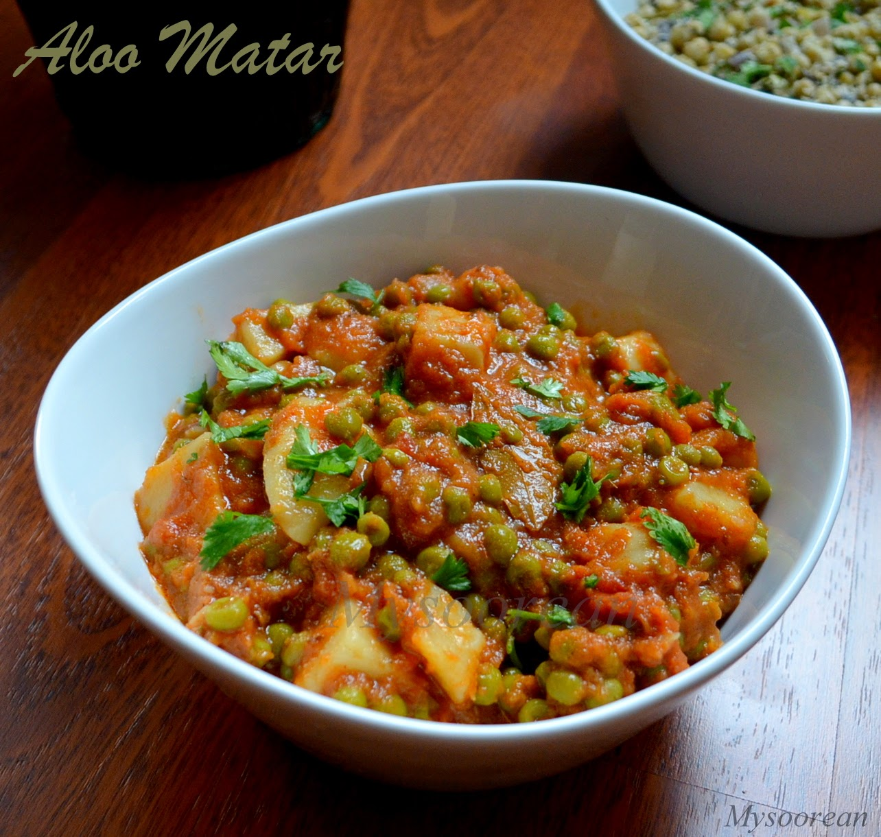 Aloo Matar - Peas and Potato Curry