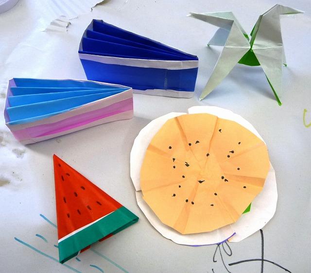 すべての折り紙 折り紙 ケーキ : 折り紙のケーキやスイカもある ...