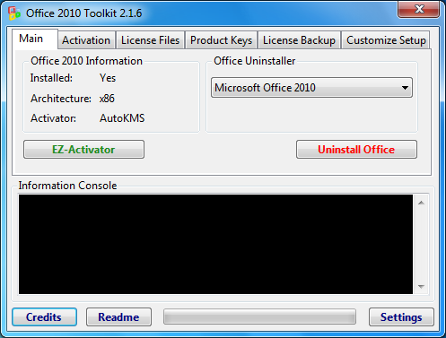 Office 2010 Toolkit, Activar Office 2010 para siempre (Actualizado
