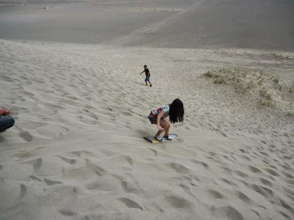 sandboarding at Paoay Sand Dunes Ilocos Norte