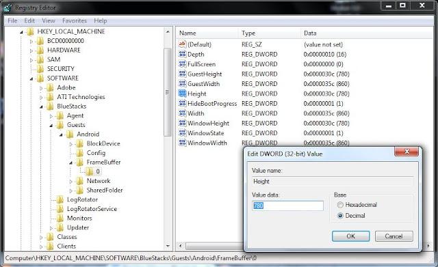 Change Bluestacks windows size screen resolution