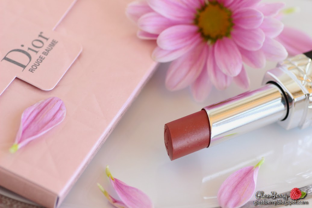 Rouge Dior Baume Natural Lip Treatment Couture Colour - 740 Escapade review swatches דיור שפתון באלם טבעי בז' גלוסברי בלוג איפור טיפוח glossberry beautyblog lipswatch