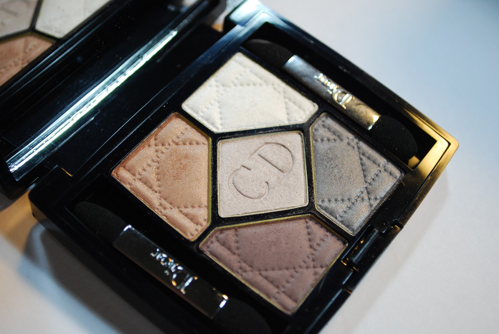 dior grege eyeshadow 5 pan review swatch