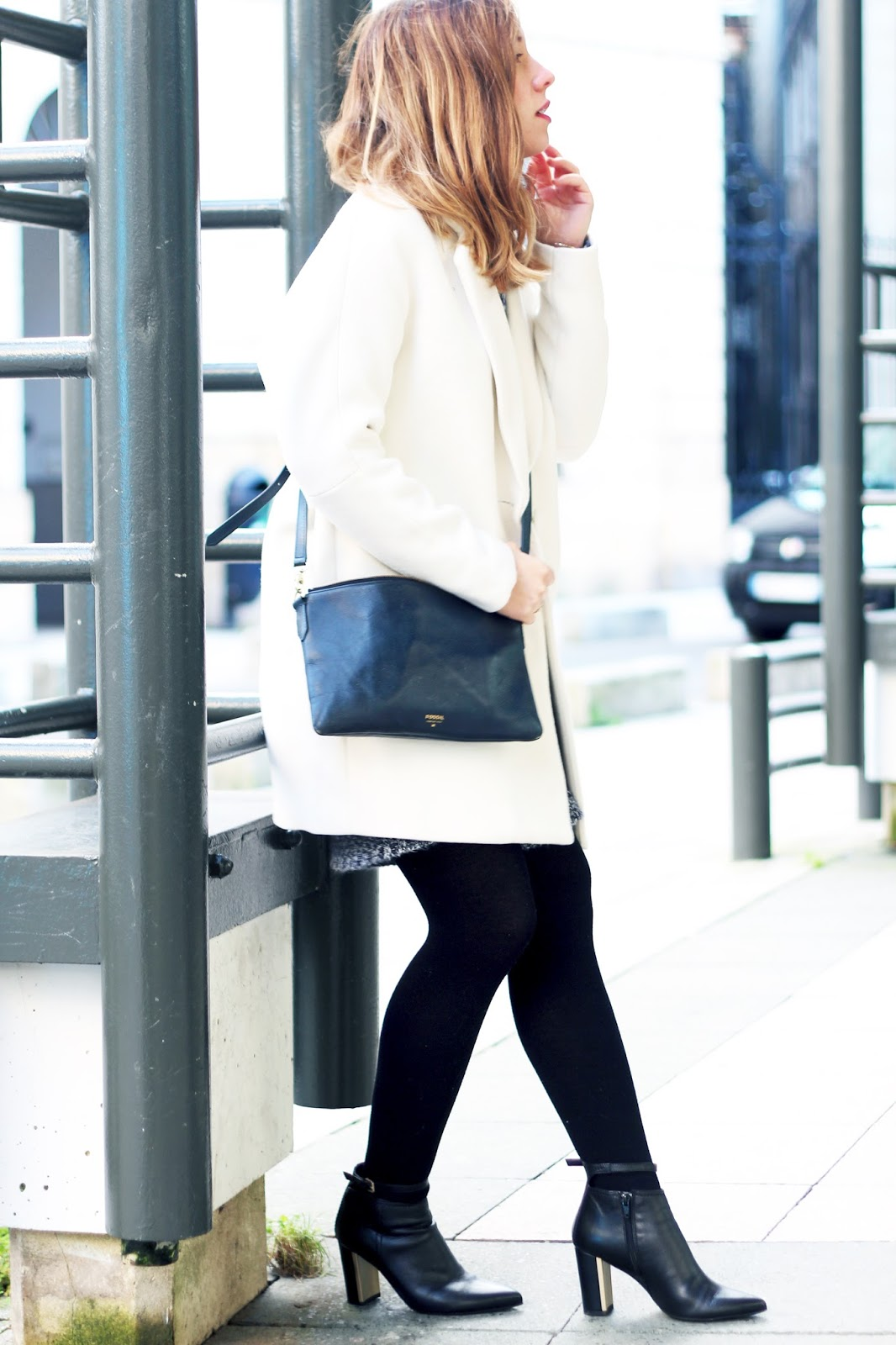 tenue hiver manteau blanc