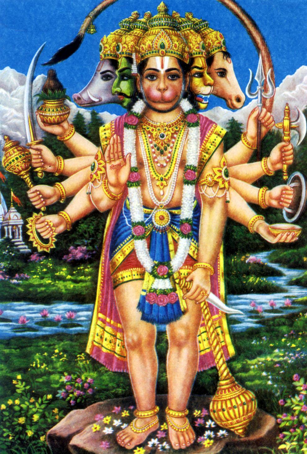 Love4wallpapers jai hanuman - Panchmukhi hanuman image ...