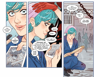 Page 8 of DC Comics Bombshells #8 featuring Harper Row