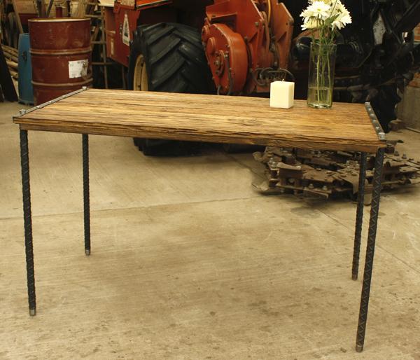 Madera y hierro muebles mesa de cocina for Muebles de cocina de hierro