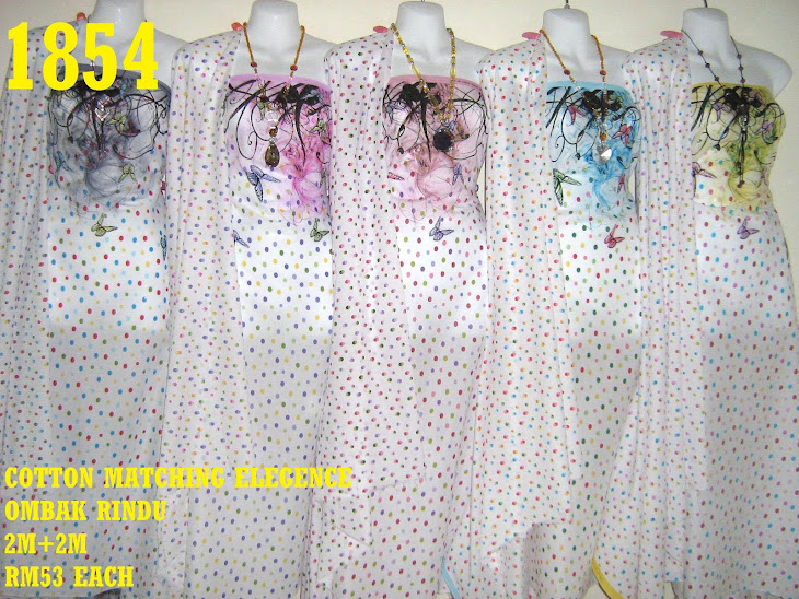CM 1854: COTTON MATCHING ELEGENCE OMBAK RINDU, 2M+2M