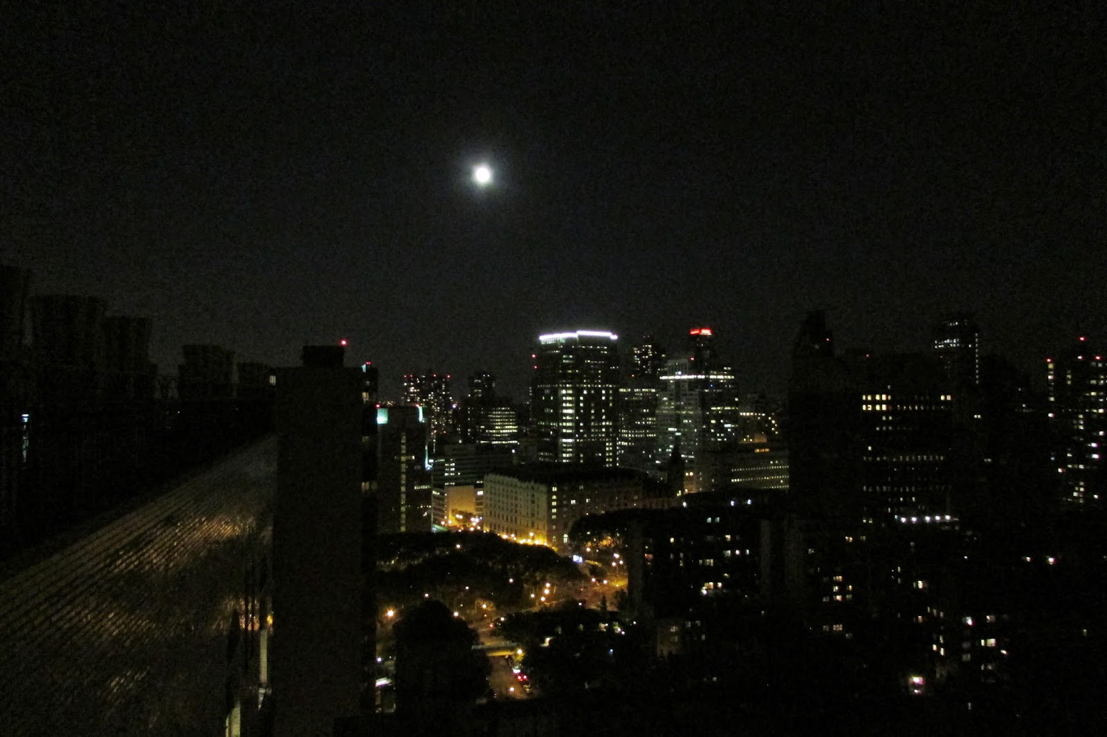 nyc supermoon photos skyline