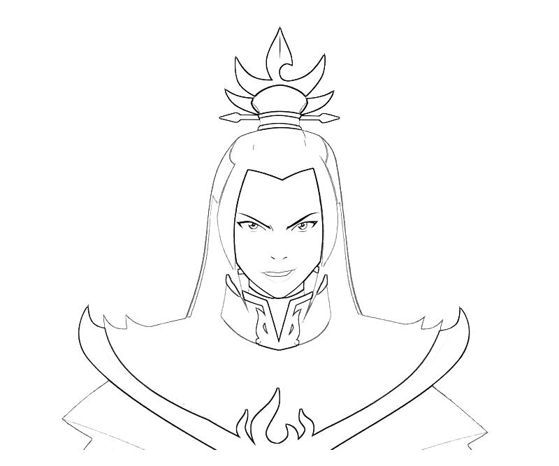 printable-avatar-azula-smile-coloring-pages
