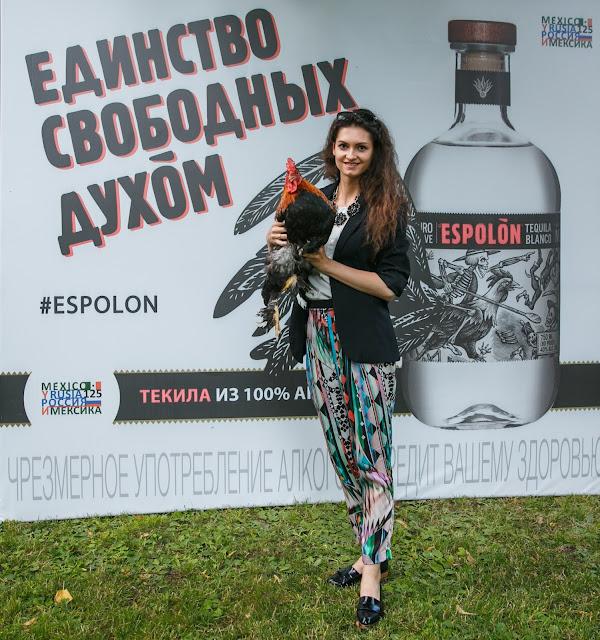 Анастасия Грибач Shurshitta на презентации текилы Espolòn