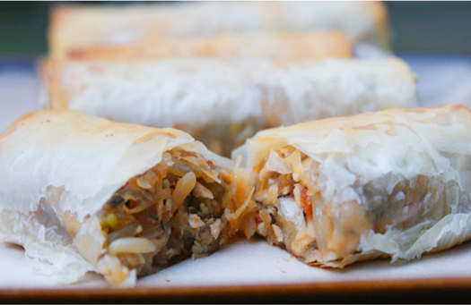 Baked Phyllo Spring Rolls