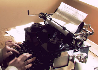 hands, typewriter, vintage, typing, keys, writing, old, hands, the perks of being a wallflower, sepia