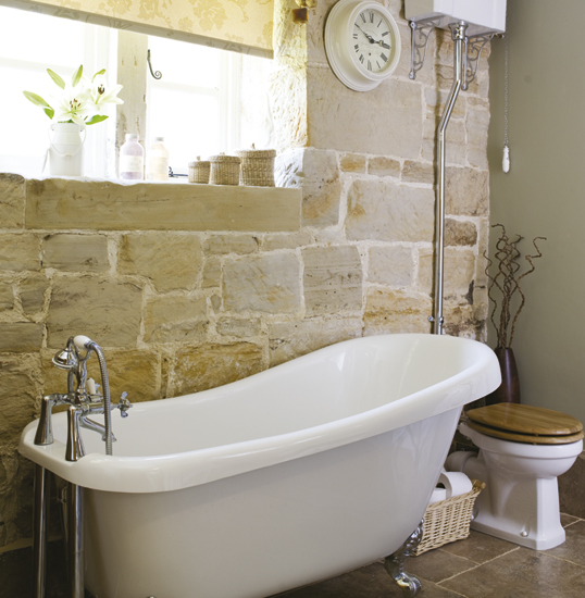 Home of stone old style all new design with stone for Traditional bathroom