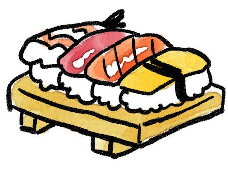 握り寿司のイラスト
