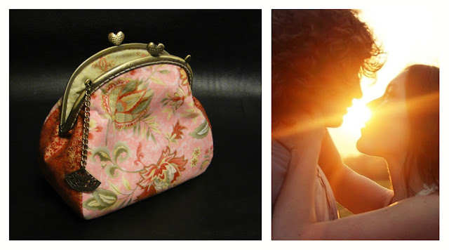 "Сумочка на цепочке ""Веер гейши"", ширина фермуара 16 см - сумочка на защелке для романтического свидания"