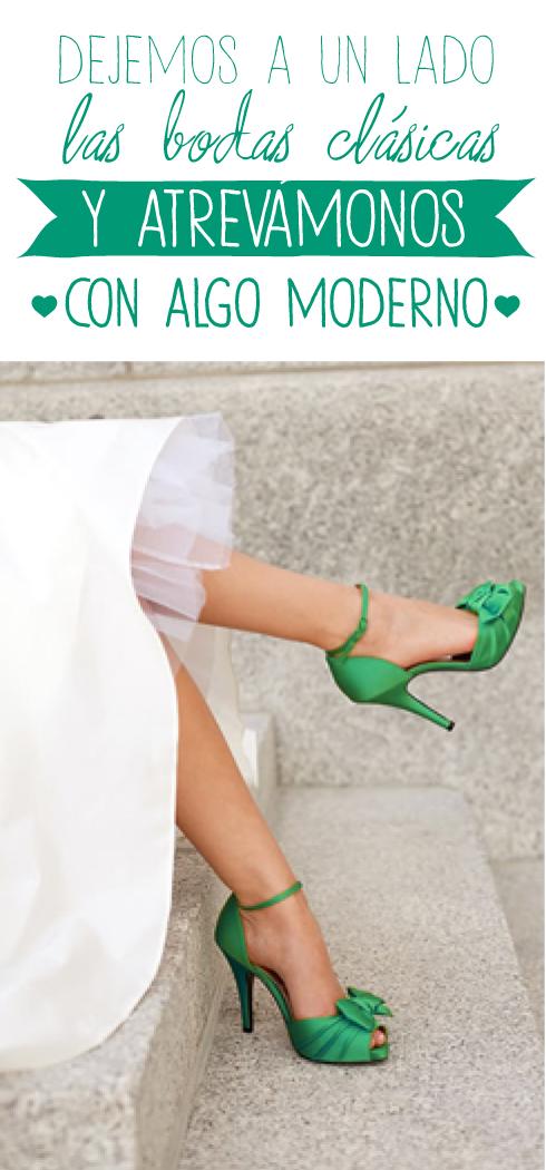 bodas modernas verde esmeralda