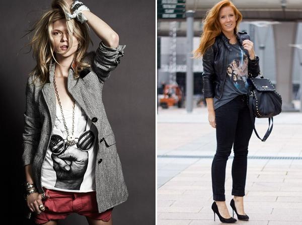tshirt+com+casaco Looks com t shirt (baby look)