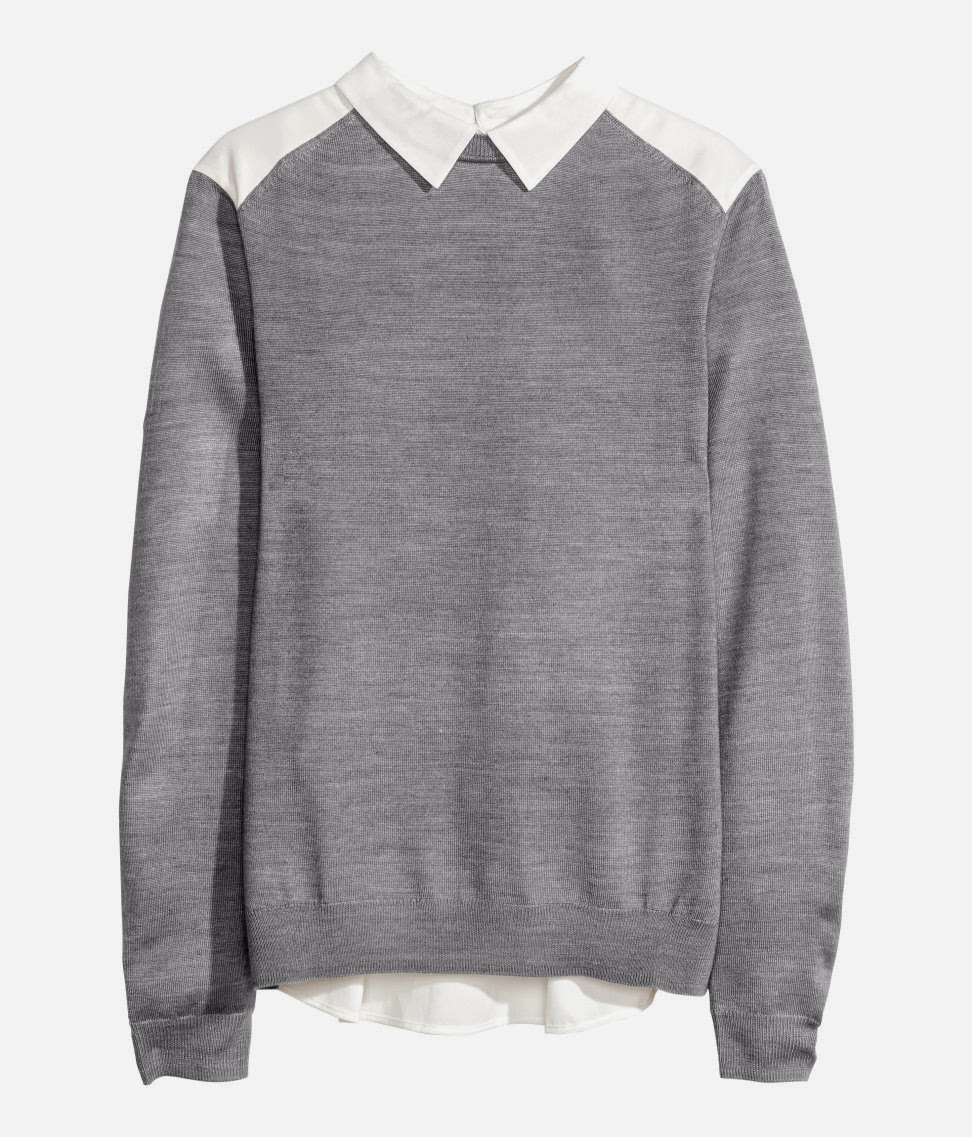 grey jumper with collar