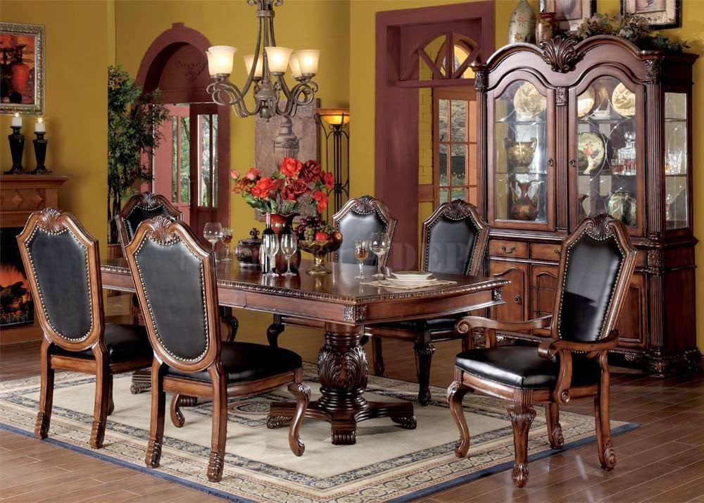 Traditional dining room furniture sets latest dining for Dining designs pictures