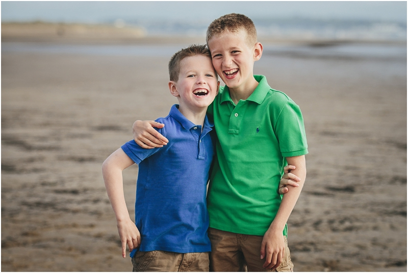 Two brothers laughing together