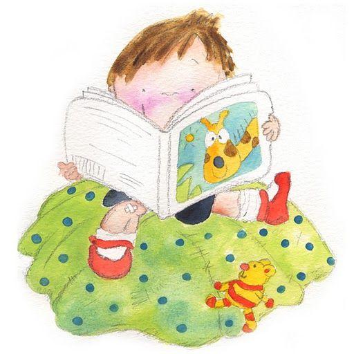 nino leyendo libro de aventuras infantiles dibujos de dia del