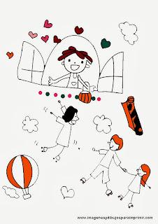 Dibujos infantiles con niños