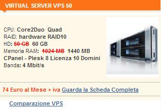 Server Virtuale VIRTUAL SERVER VPS 50