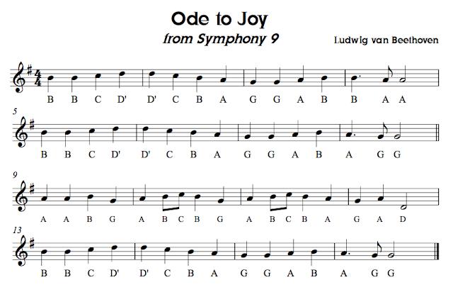 Recorder Karate Sheet Music Ode to Joy images