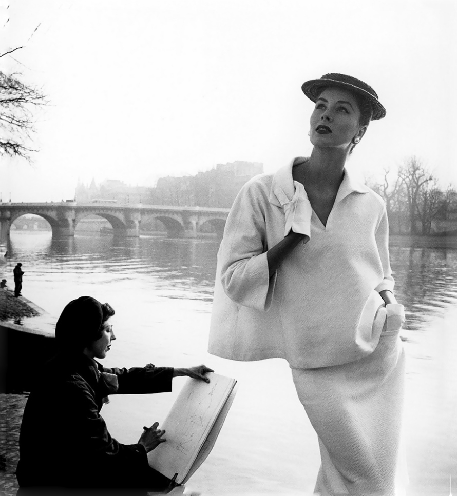 Suzy Parker in Balenciaga photographed by Louise Dahl-Wolfe for Harper's Bazaar March 1953 / Balenciaga books / Balenciaga Paris / via fashioned by love british fashion blog