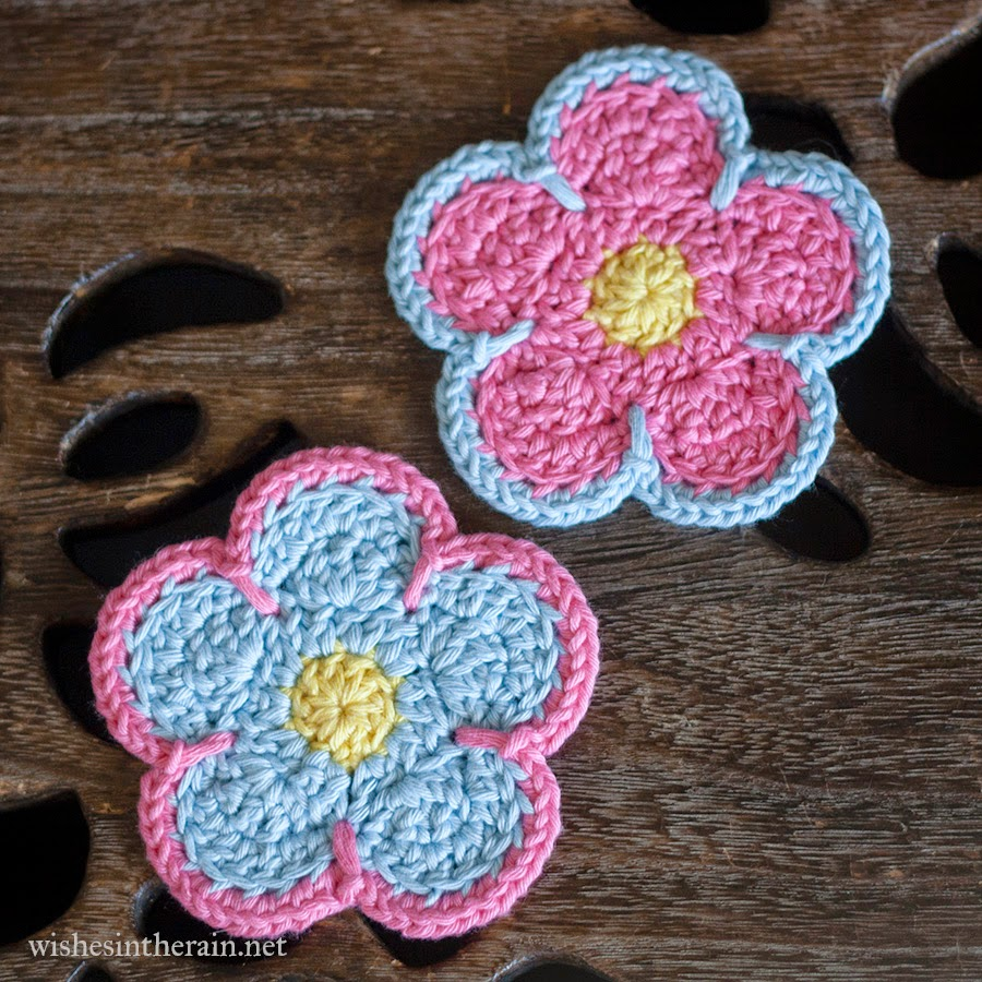 two flower coasters