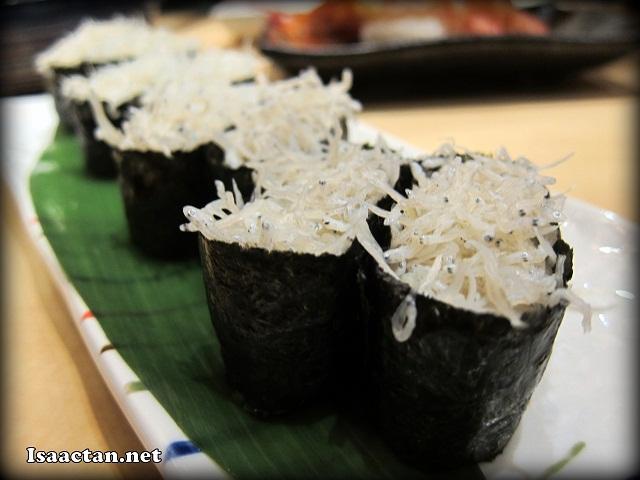 Kamaage Shirasu Sushi - RM6.80 per pair