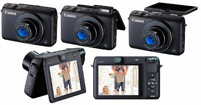 Canon PowerShot N100, digital camera, Wi-Fi, NFC, creative filters, HDR, optical image stabilization, optical zoom