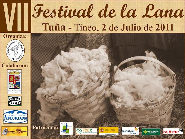Cartel del VII Festival de Lana de Tineo